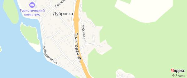 Подгорный переулок на карте поселка Дубровки Алтая с номерами домов