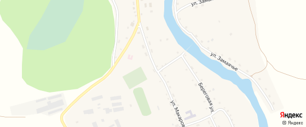 Улица Макарова на карте села Антипино с номерами домов