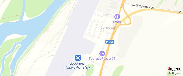 Садовое товарищество сдт Мичуринец на карте села Майма Алтая с номерами домов