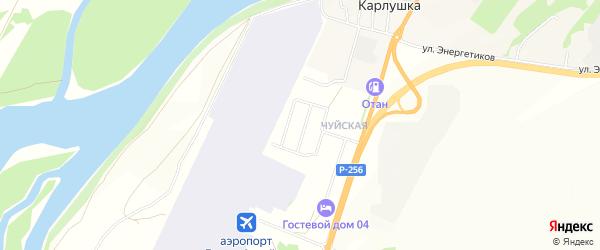 ДНП Майминское на карте поселка Карлушки Алтая с номерами домов