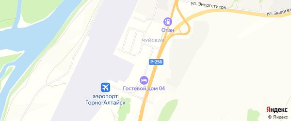 Сдт Чуйское садовое товарищество на карте села Майма Алтая с номерами домов