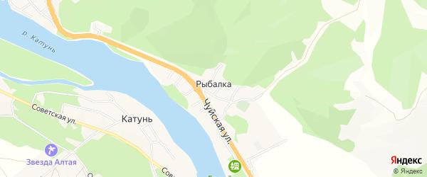 Карта поселка Рыбалки в Алтае с улицами и номерами домов