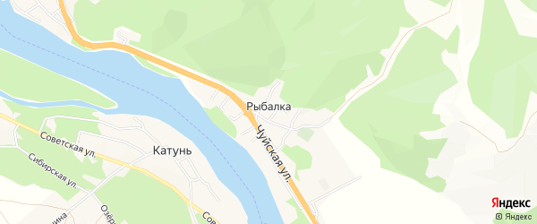 Территория Земельный участок в западной части на карте поселка Рыбалки Алтая с номерами домов