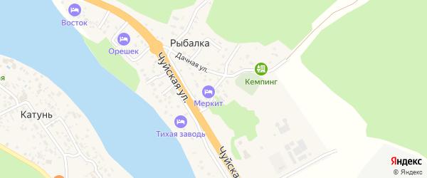 Дачный переулок на карте поселка Рыбалки Алтая с номерами домов