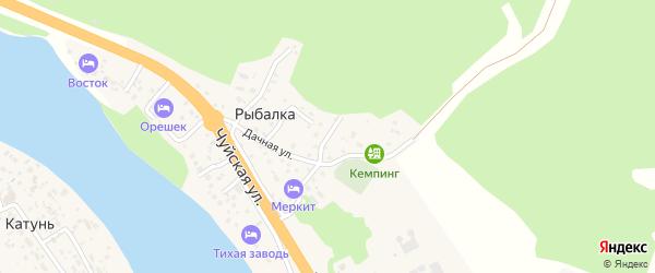 Горный переулок на карте поселка Рыбалки Алтая с номерами домов