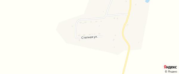 Степная улица на карте поселка Теректы Алтая с номерами домов