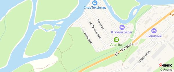 Улица И.Немцева на карте села Майма Алтая с номерами домов