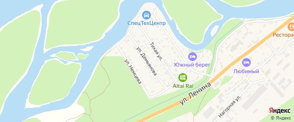 Улица М.Демьянова на карте села Майма Алтая с номерами домов