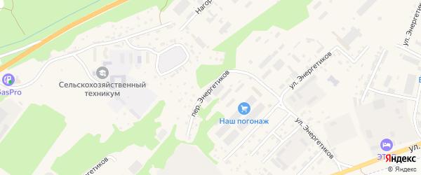 Переулок Энергетиков на карте села Майма Алтая с номерами домов