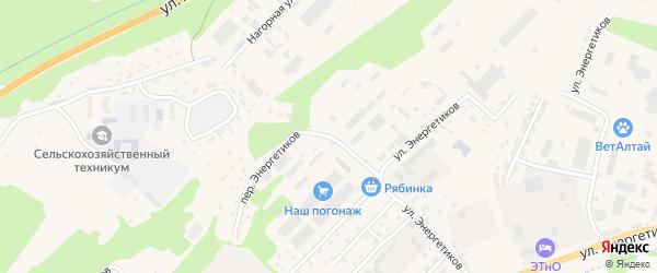Улица Энергетиков на карте села Майма Алтая с номерами домов