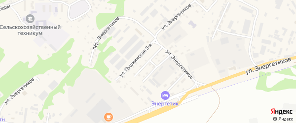 2-я Пушкинская улица на карте села Майма Алтая с номерами домов