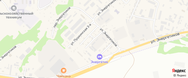1-я Пушкинская улица на карте села Майма Алтая с номерами домов