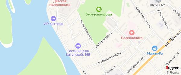 Молодежная улица на карте села Майма Алтая с номерами домов