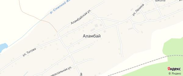 Улица Строителей на карте станции Аламбая Алтайского края с номерами домов