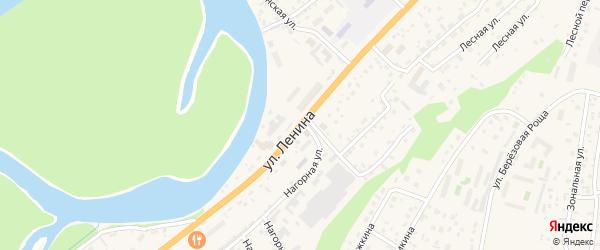 Улица Ленина на карте села Майма Алтая с номерами домов