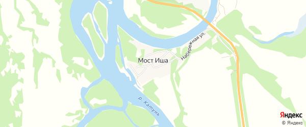 Карта поселка Моста Иша в Алтайском крае с улицами и номерами домов