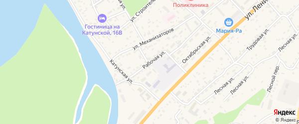 Рабочая улица на карте села Майма с номерами домов