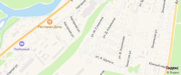 Улица М.Стяжкина на карте села Майма Алтая с номерами домов