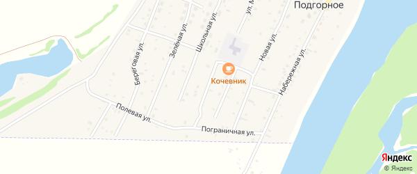 Весенний переулок на карте Подгорного села Алтая с номерами домов