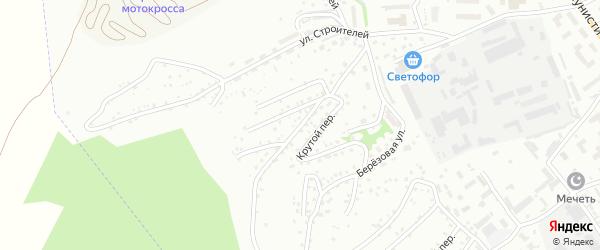 Крутой переулок на карте Горно-Алтайска с номерами домов