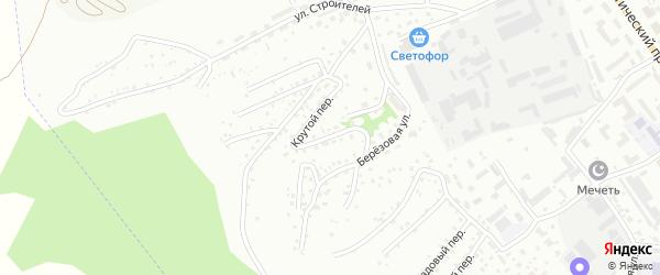 Березовый переулок на карте Горно-Алтайска с номерами домов