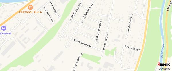 Переулок Рыхлый Вал на карте села Майма Алтая с номерами домов