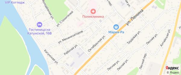 Социалистическая улица на карте села Майма Алтая с номерами домов