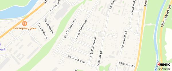 Переулок В.Вербицкого на карте села Майма Алтая с номерами домов