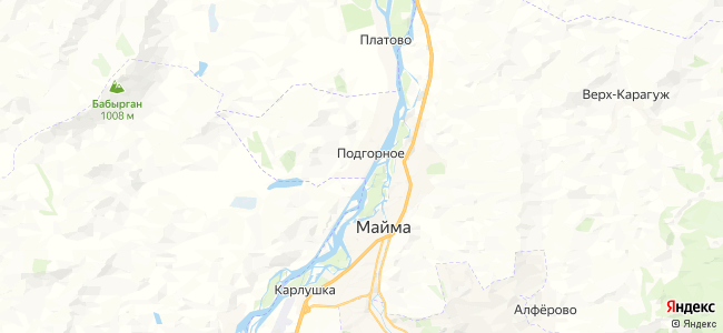 Подгорное на карте