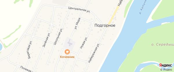 Новая улица на карте Подгорного села Алтая с номерами домов