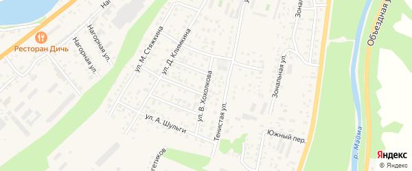 Улица В.Хохолкова. на карте села Майма Алтая с номерами домов
