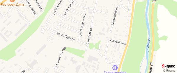 Тенистая улица на карте села Майма Алтая с номерами домов