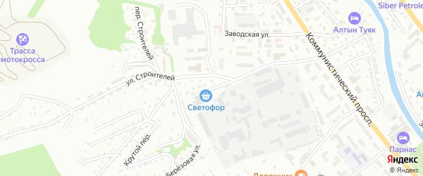 Транспортный переулок на карте Горно-Алтайска с номерами домов