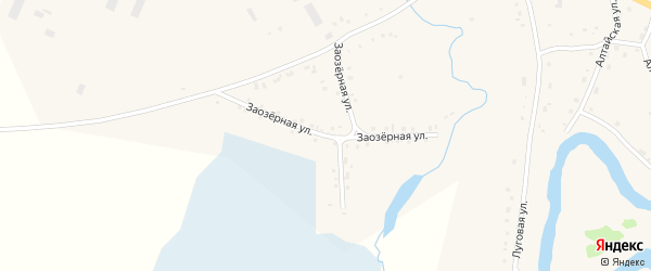 Заозерная улица на карте села Тогула с номерами домов