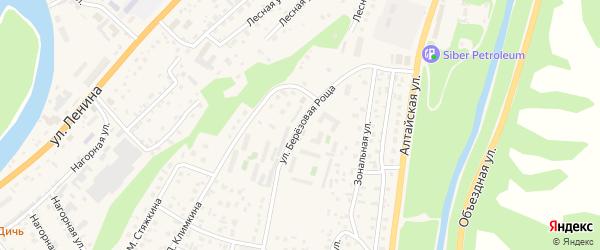Улица Березовая роща на карте села Майма Алтая с номерами домов