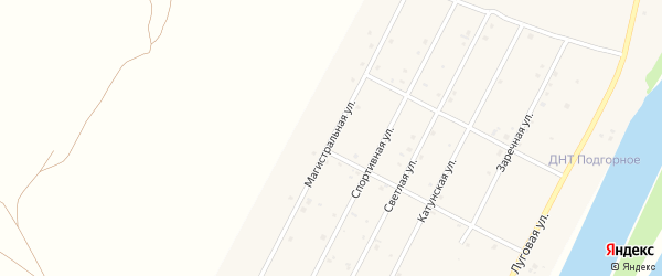 Магистральная улица на карте Подгорного села Алтая с номерами домов