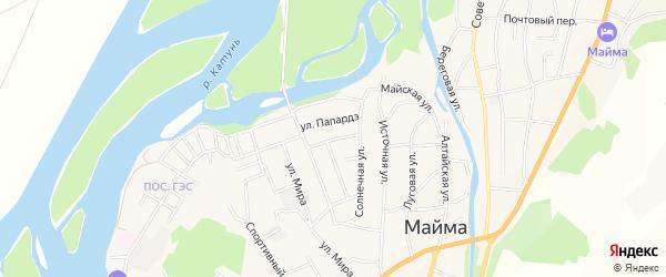 Садовое товарищество сдт Северный на карте села Майма Алтая с номерами домов