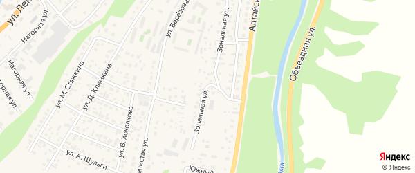 Зональная улица на карте села Майма Алтая с номерами домов