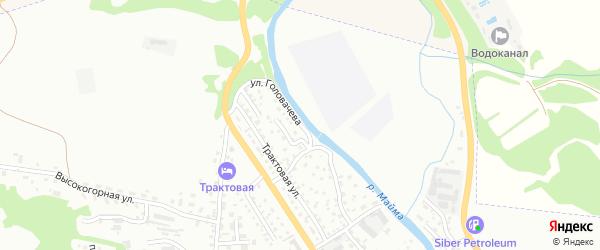 Улица Головачева на карте Горно-Алтайска с номерами домов