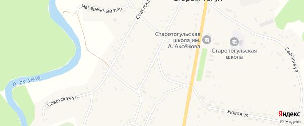 Центральная улица на карте села Старого Тогула Алтайского края с номерами домов