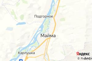 Карта с. Майма Республика Алтай