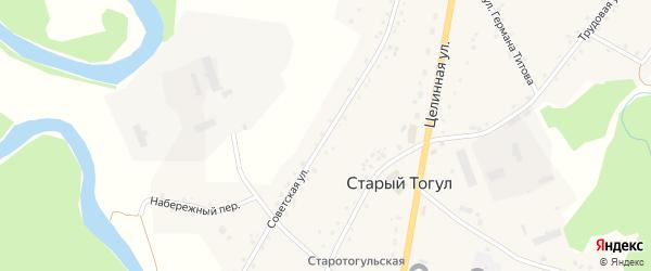 Советская улица на карте села Старого Тогула Алтайского края с номерами домов