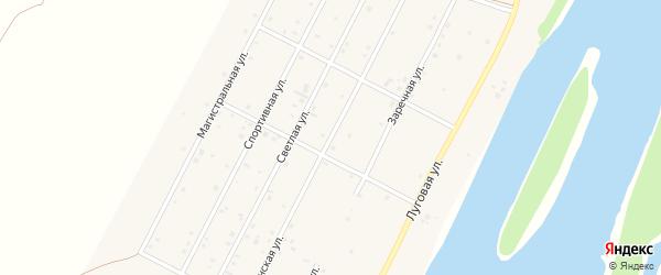 Катунская улица на карте Подгорного села Алтая с номерами домов