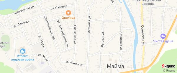 Источная улица на карте села Майма Алтая с номерами домов