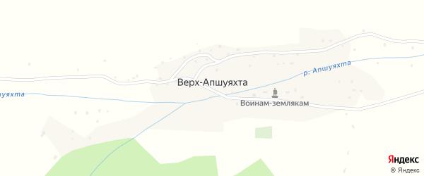 Центральная улица на карте села Верха-Апшуяхта Алтая с номерами домов