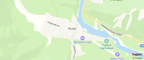 Карта села Аската в Алтае с улицами и номерами домов