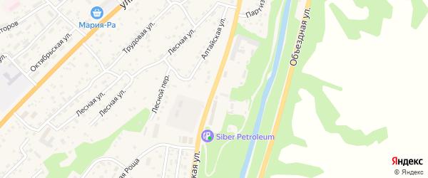 Алтайская улица на карте села Майма Алтая с номерами домов