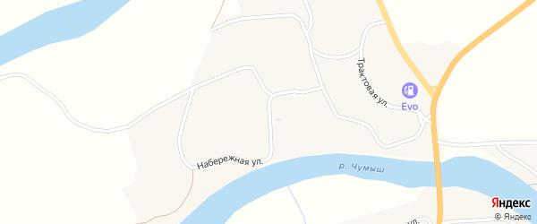 Бригадный переулок на карте села Мартыново с номерами домов