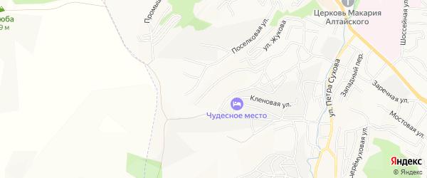 Садовое товарищество Рябинушка на карте Горно-Алтайска с номерами домов