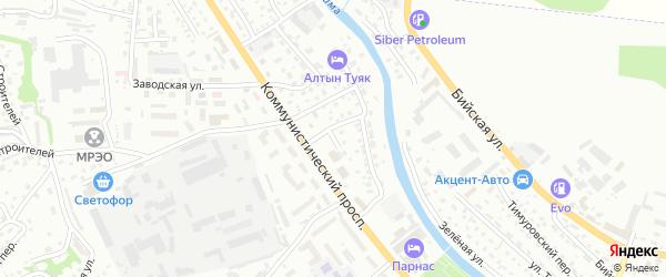 Самоварный переулок на карте Горно-Алтайска с номерами домов